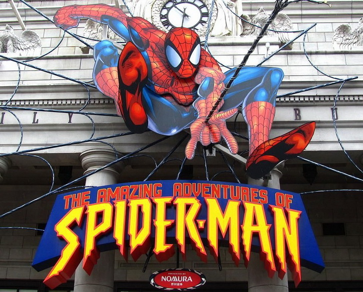 7.Spider man the ride