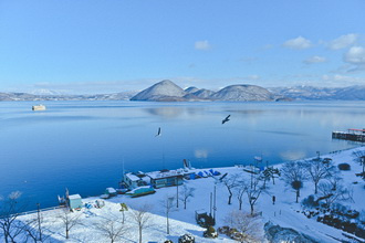 Toya Lake Winter